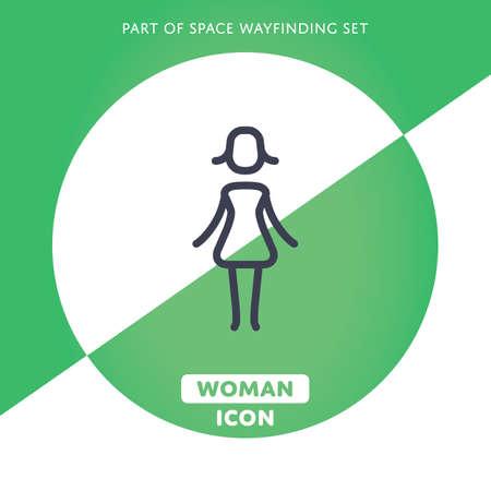 female sign: Vector Woman icon. Female sign. Lady symbol Illustration