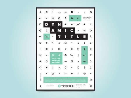 Modèle de mise en page de conception flyer brochure corporative au format A4, vecteur eps10. Affiche créative avec des icônes. Logo d'entreprise.
