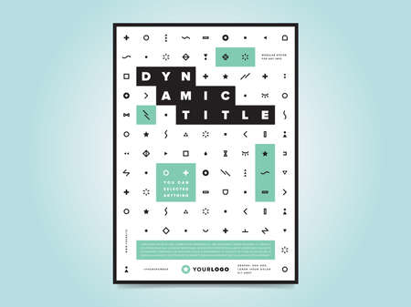 Plantilla de las empresas volante folleto de diseño de diseño de tamaño A4, vector eps10. cartel creativo con iconos. logotipo de la empresa.