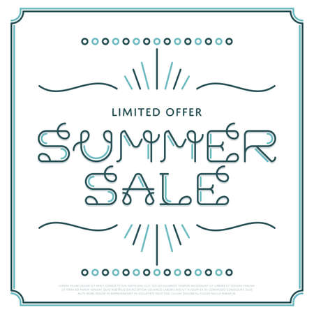 Vector Summer Sale Banner, Poster, Flyer illustration Archivio Fotografico - 58222530