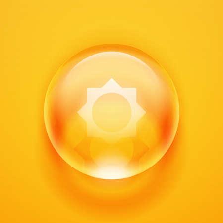 Goccia d'acqua. Sfera di vetro Bolla. Palla di vetro. Illustrazione vettoriale di vettore realistico Archivio Fotografico - 60390878