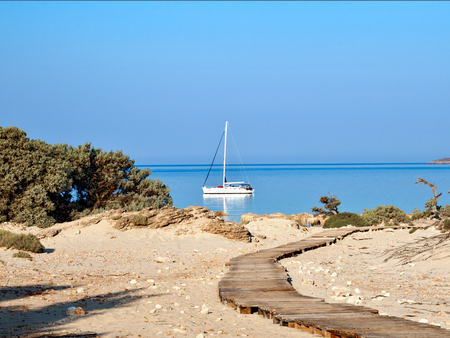 friendless: road to a new life ... greece Stock Photo