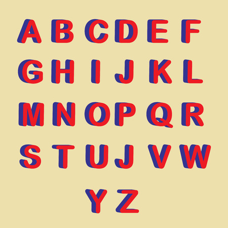 벡터 - 3D 글꼴, 큰 흰색 글자 서