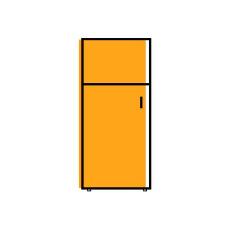 Vector - Refrigerator icon. Flat illustration of refrigerator vector icon for web