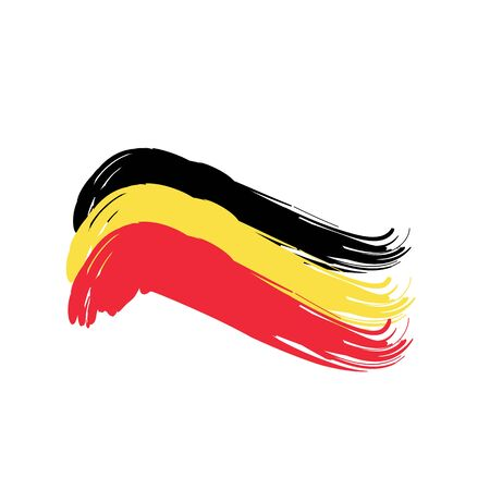 european culture: Flag of Belgium. Illustration