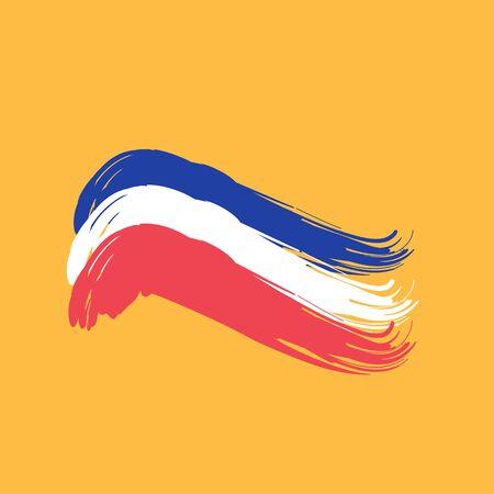 Brushstroke Flag France (french).