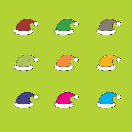 elves: Santa christmas hat vector illustration.