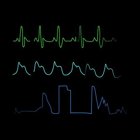 heartbeat icon. heartbeat logo