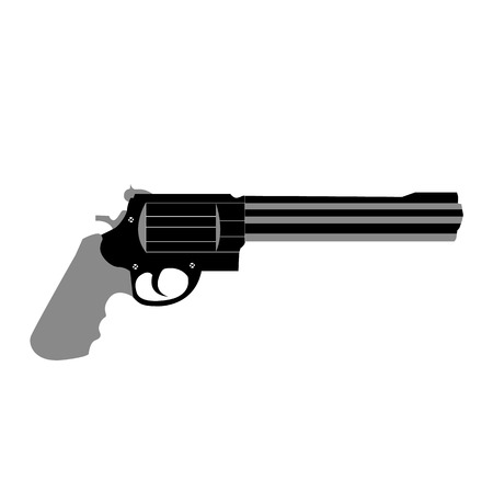 revolver weapon handgun pistol gun firearm shot vector illustration