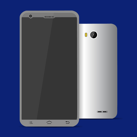 mobilephone: Mobile phone isolated, realistic vector illustration. Illustration