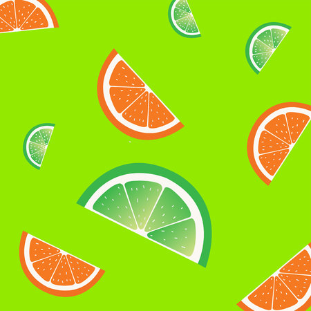 Fruit slices pattern. Vector illustration. Illustration
