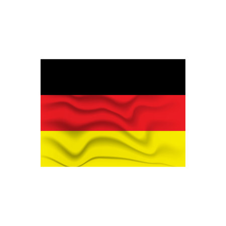 German wavy flag vector Ilustrace