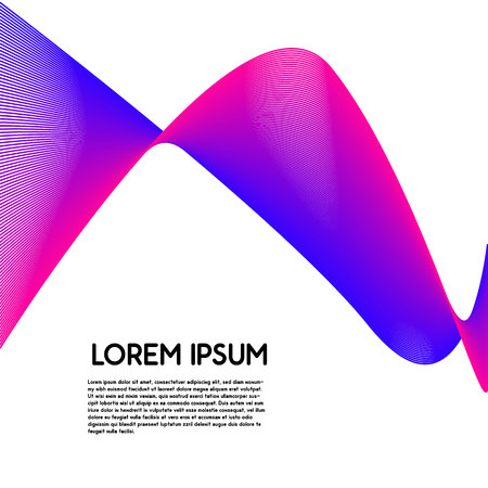 Abstract wavy background for banner, flyer, poster. Dynamic effect. 3d perspective grid. Vector illustration with dots. Network design with particle. Clipping mask Ilustrace