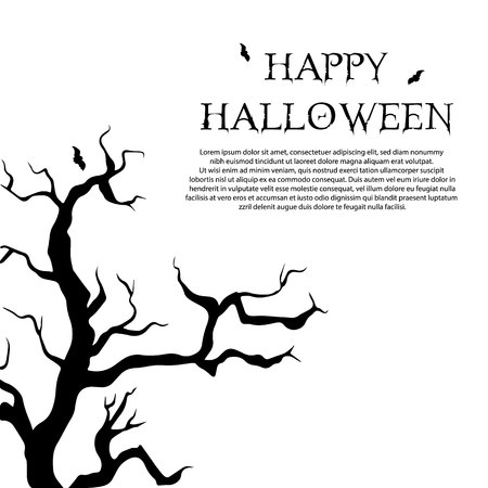 Happy Halloween. Children dressed in Halloween fancy dress to go Trick or Treating. Template for advertising brochure. Ilustrace