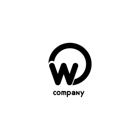 Letter O and W  icon template design vector element.