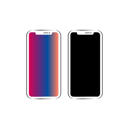 Phone vector icon isolated