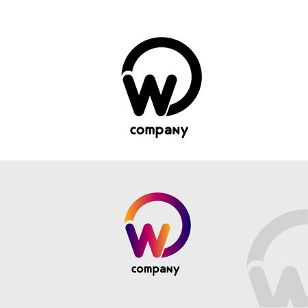 O & W Letter logo design vector element. Business Card template