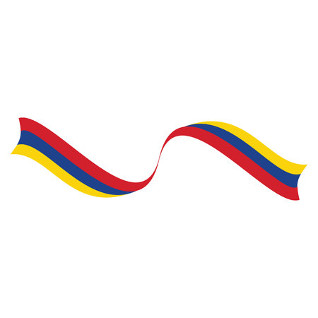 Flag of Columbia vector illustration.