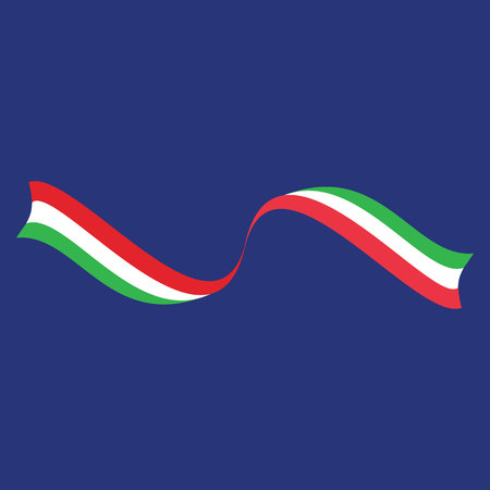 Bulgarian flag on a blue background