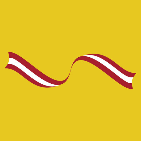 Peruvian ribbon flag on a yellow background