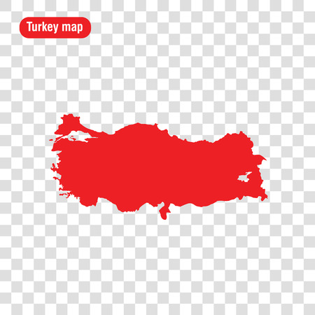 Turkey map. Vector illustration. Transparent background 일러스트