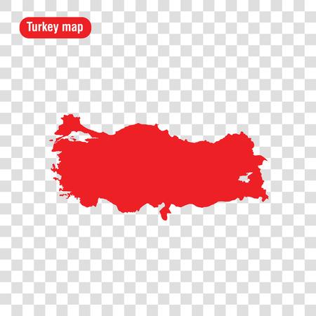 Turkey map. Vector illustration. Transparent background Vectores