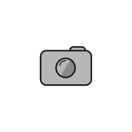 Camera Icon in trendy flat style isolated on grey background. Camera symbol for your web site design, logo, app, UI Reklamní fotografie