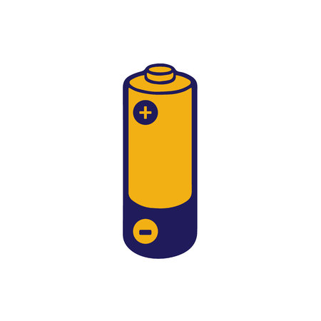 Simple illustrated battery icon with colorful charge