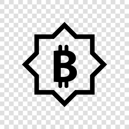 Bitcoin vector logo.