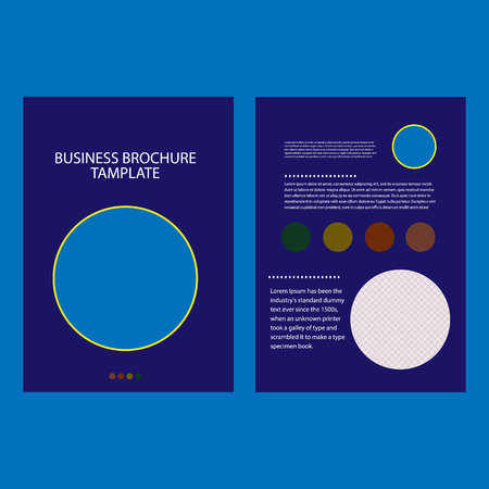 Annual report brochure flyer design template vector. Ilustrace