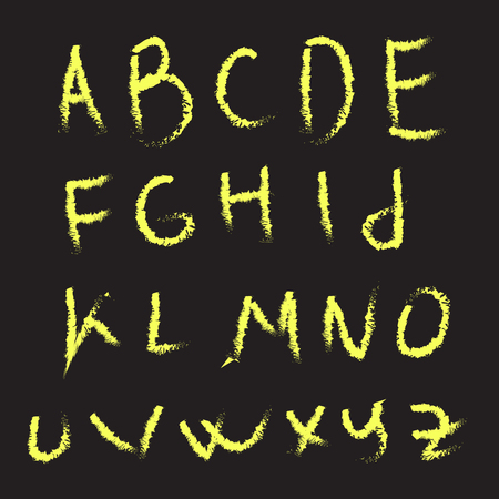 Hand lettering sketch font. Vector alphabet. Isolated