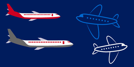 Vector airplane Icon. Isolated on a background