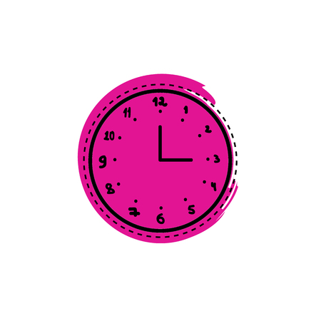 Clock doodle vector illustration Ilustrace