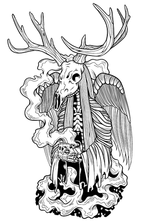 grim reaper: Devil Deer