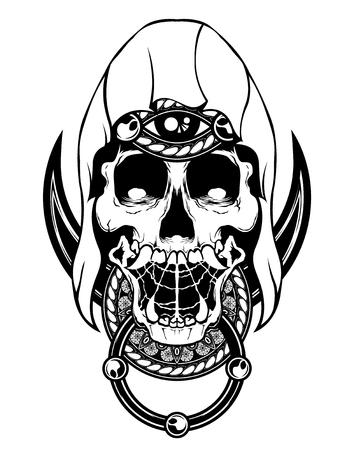 skull giant vector tattoo dead