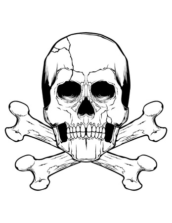 Skull And Crossbones  イラスト・ベクター素材