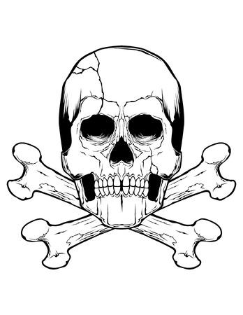crossbones: Skull And Crossbones Illustration