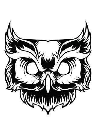 Owl Vector Design Cartoon