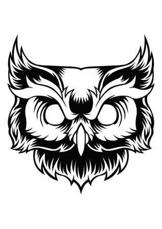 Owl Vector Design Cartoon