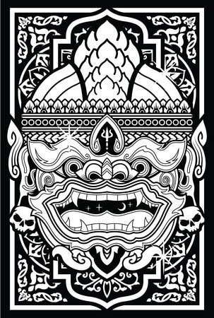 Thai Monkey Art Vector Design
