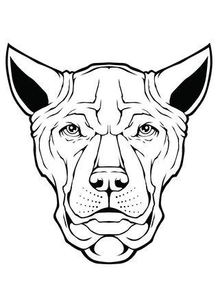 Dog Face Design Vector