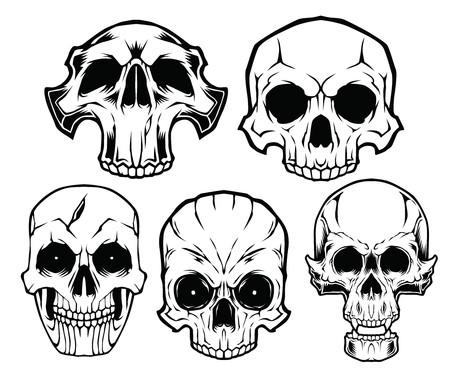 Skull Mix Dark Design Иллюстрация