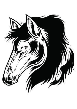 Horse Head Icon Logo Drsign Vector Sybol Animal Çizim