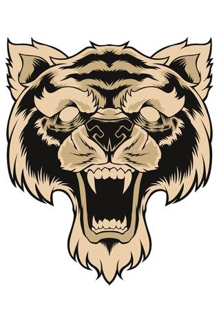 Tiger Face Head Tattoo Design.