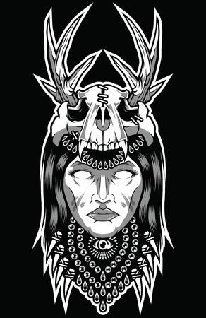 Skull Girl Sugar Face Wolf