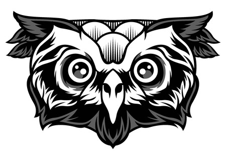 Owl vector tattoo poster design animal