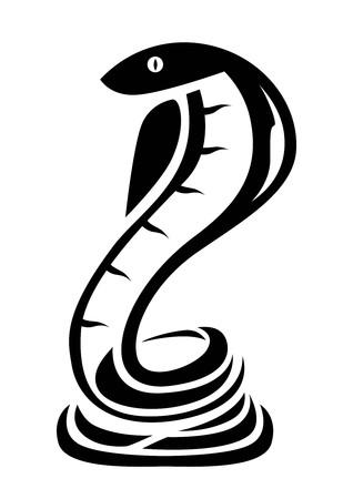 Snake Vector Design Logo icon banner sticker tattoo outline black