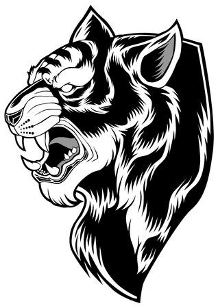 Tiger Background Design Face Animal Head Иллюстрация