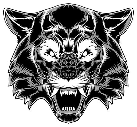 Wolf Head Vector Animal Art Design Cartoon Illustration