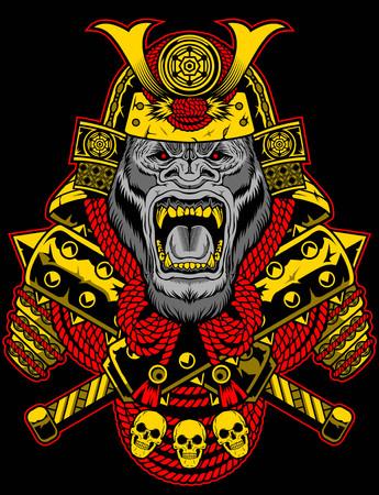 Samurai gorilla roar
